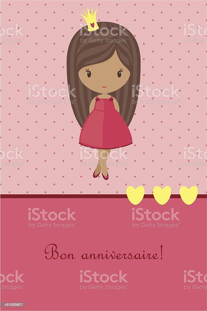 Princess pink birthday card royalty-free princess pink birthday card stock vector art & more images of backdrop