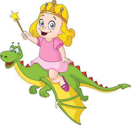 Princess riding dragon