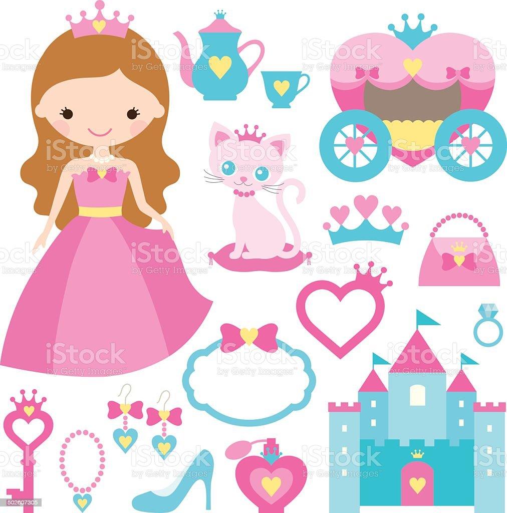 Princess Set vector art illustration