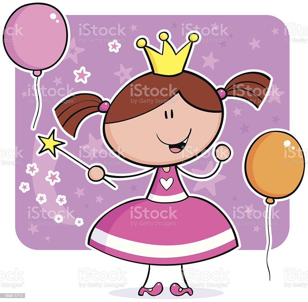Princess two royalty-free stock vector art