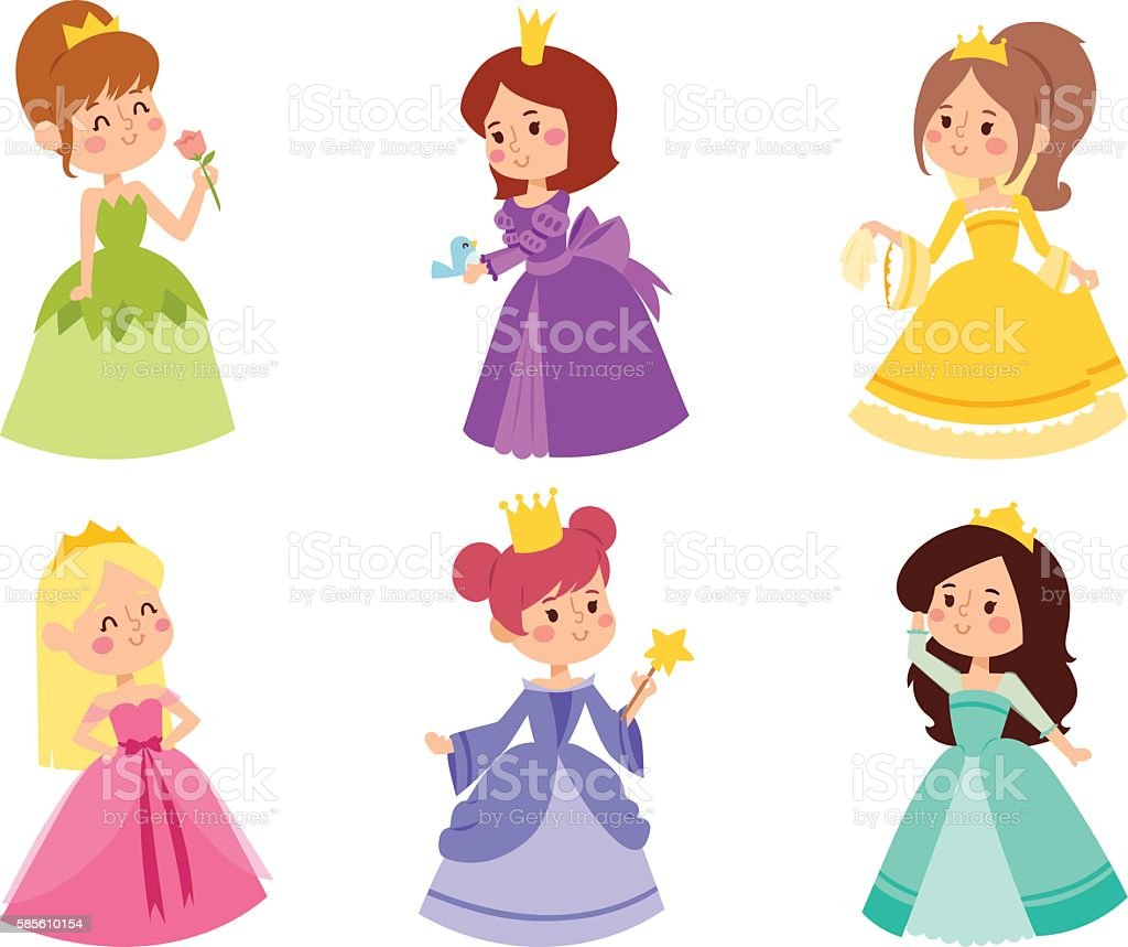 Princess vector set. – Vektorgrafik