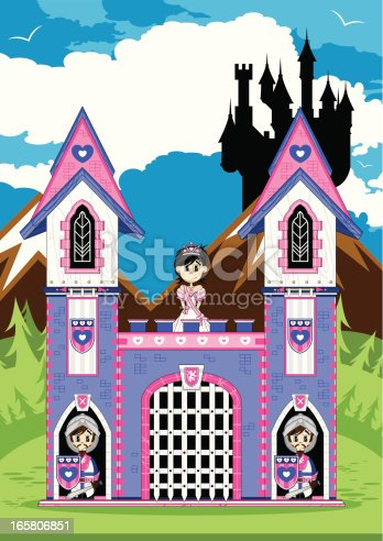 istock Princess with Royal Guards at Castle Scene 165806851