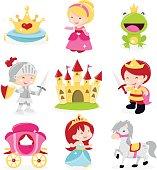Princesses Prince Knight Icons