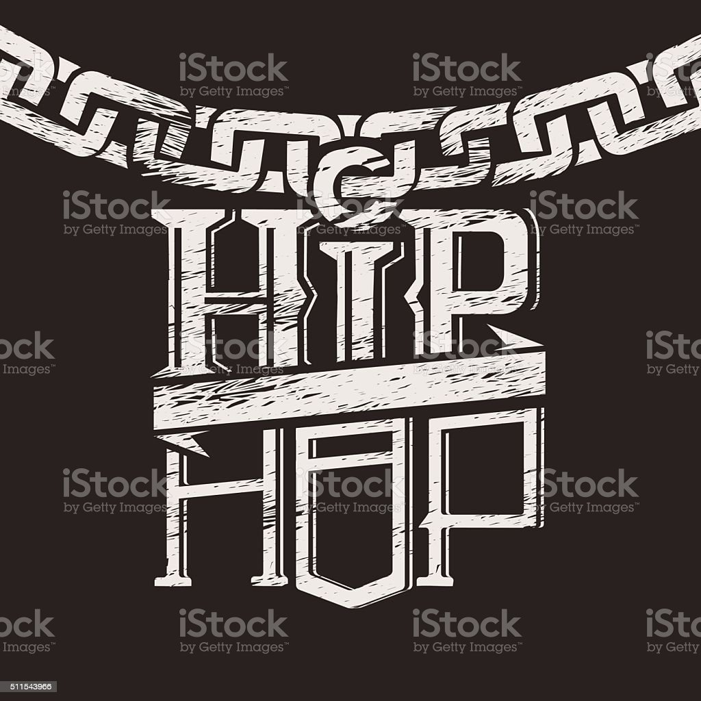 Print a label on the circuit hip hop vector art illustration