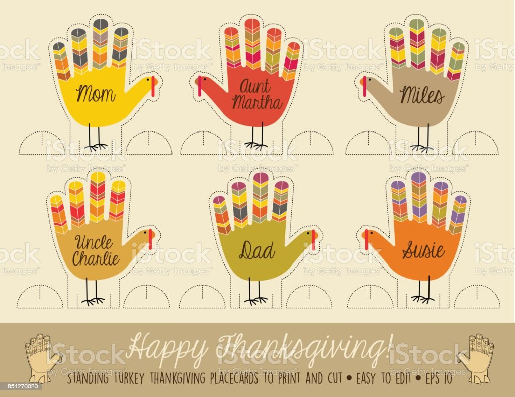 Thanksgiving Name Card Clip Art Best Graphic Sharing