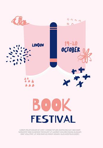 Imprimer Livre Affiche Pour Le Festival Modern Concept Créatif Avec Coupe Et Pomme Vecteurs Libres De Droits Et Plus Dimages Vectorielles De Affaires