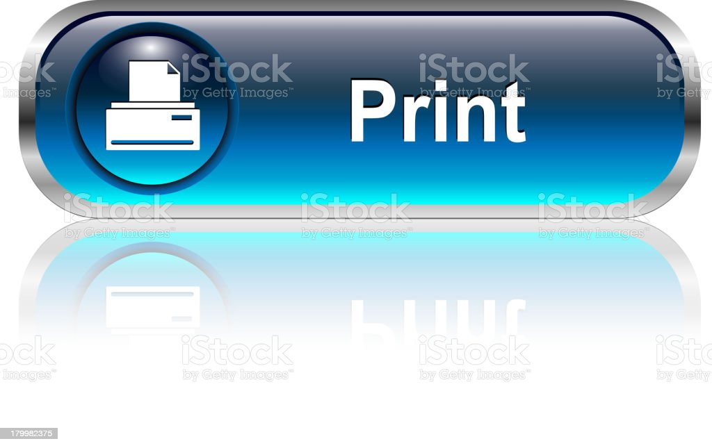Print Button royalty-free stock vector art