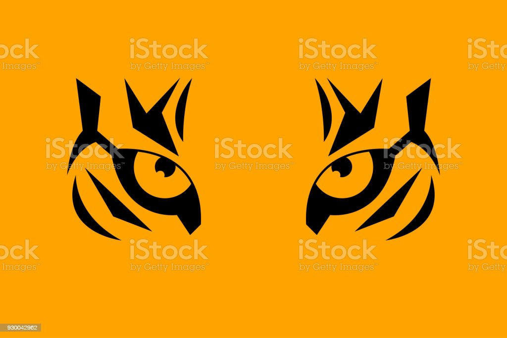 Print eye of tiger