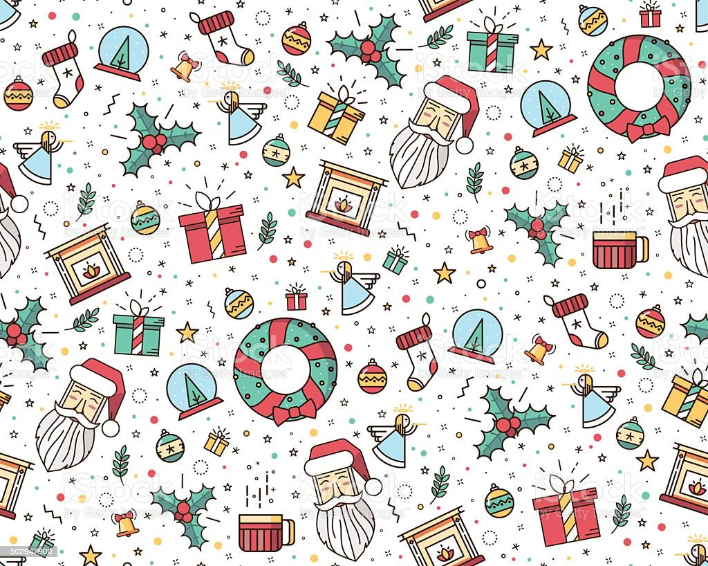 - Print For Christmas Decorations Stock Illustration - Download