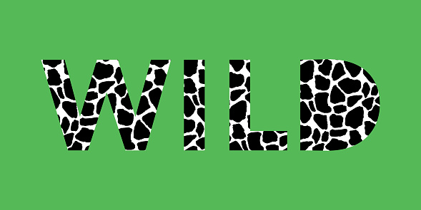 Print for t shirt design with animal pattern and slogan.