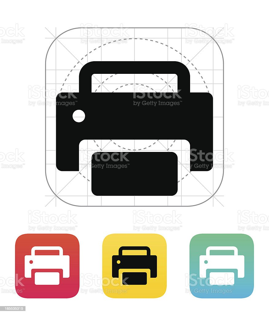Print icon. royalty-free print icon stock vector art & more images of business