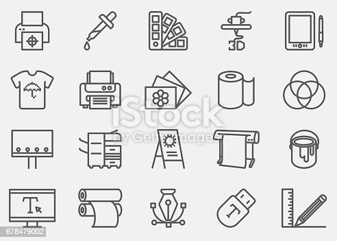 Print Line Icons