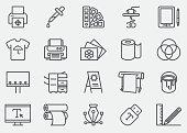 Print Line Icons | EPS 10