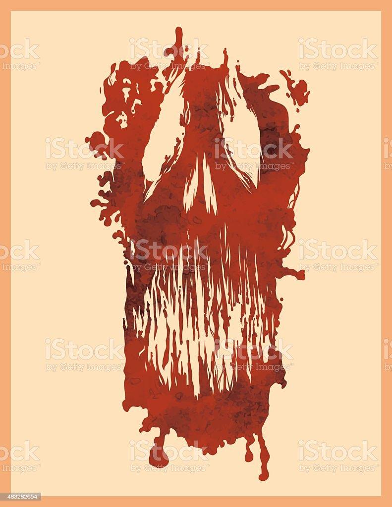 Print of death vector art illustration