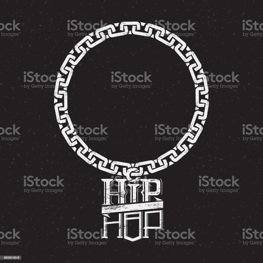 print on shirt or poster of hip hop - Royalty-free Alphabet stock vector