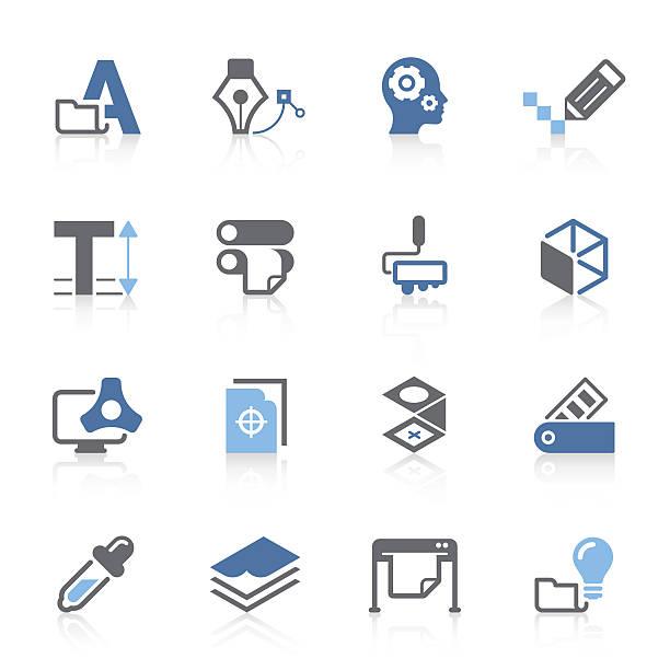 print & drücken sie symbol/azur serie - korrekturlesen stock-grafiken, -clipart, -cartoons und -symbole
