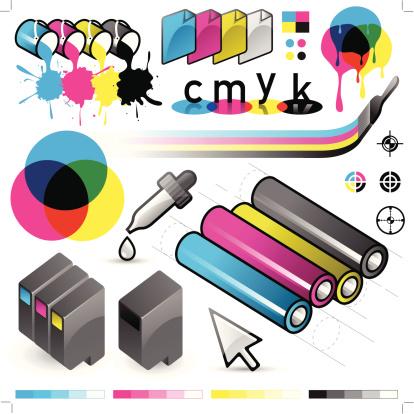 CMYK Print Process Elements