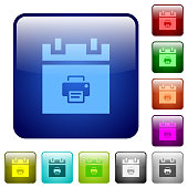 Print schedule item color square buttons