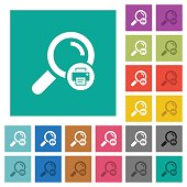 Print search results square flat multi colored icons