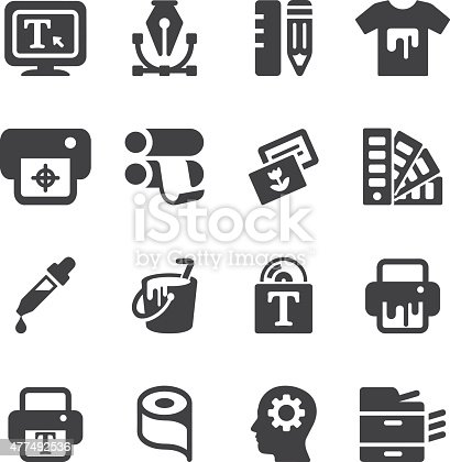 Print Silhouette icons
