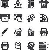 Print Silhouette icons | EPS10