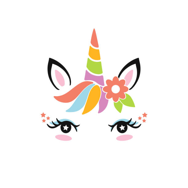 printable unicorn backgrounds illustrations royaltyfree