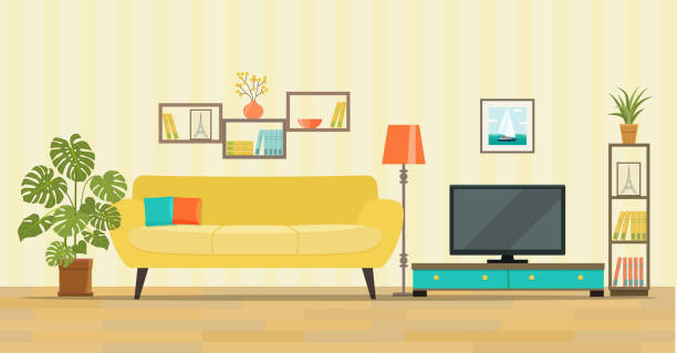 Best Living Room Illustrations Royalty Free Vector Graphics