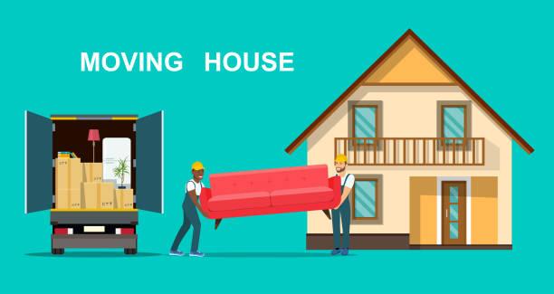 ilustrações, clipart, desenhos animados e ícones de imprimir - casa nova