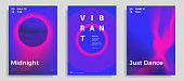 Set of trendy abstract design template with vibrant gradient shapes. Bright colors. Applicable for covers, brochures, flyers, presentations, identity and banners. Vector illustration. Eps10