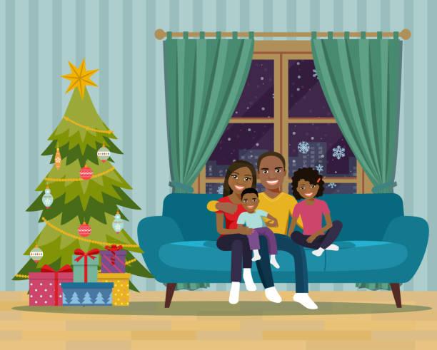 stockillustraties, clipart, cartoons en iconen met afdrukken - christmas family