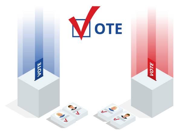 ilustraciones, imágenes clip art, dibujos animados e iconos de stock de imprimir - polling place