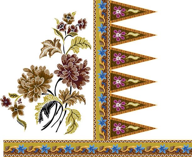 stockillustraties, clipart, cartoons en iconen met afdrukken - batik