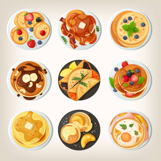 印刷 - パンケーキ点のイラスト素材/クリップアート素材/マンガ素材/アイコン素材