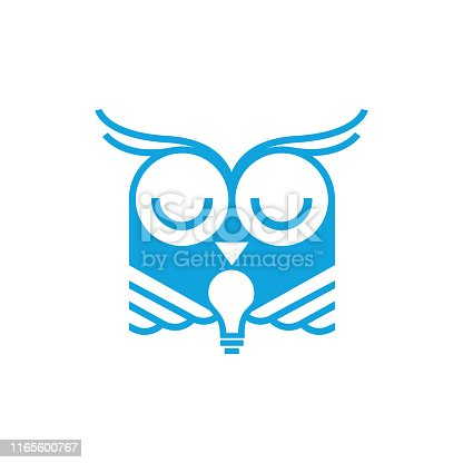 owl huge bulb icon illustration