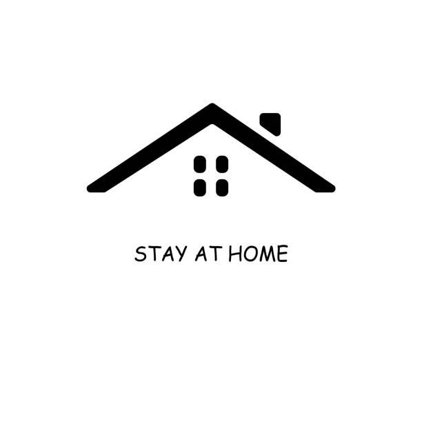ilustraciones, imágenes clip art, dibujos animados e iconos de stock de impresión - stay home
