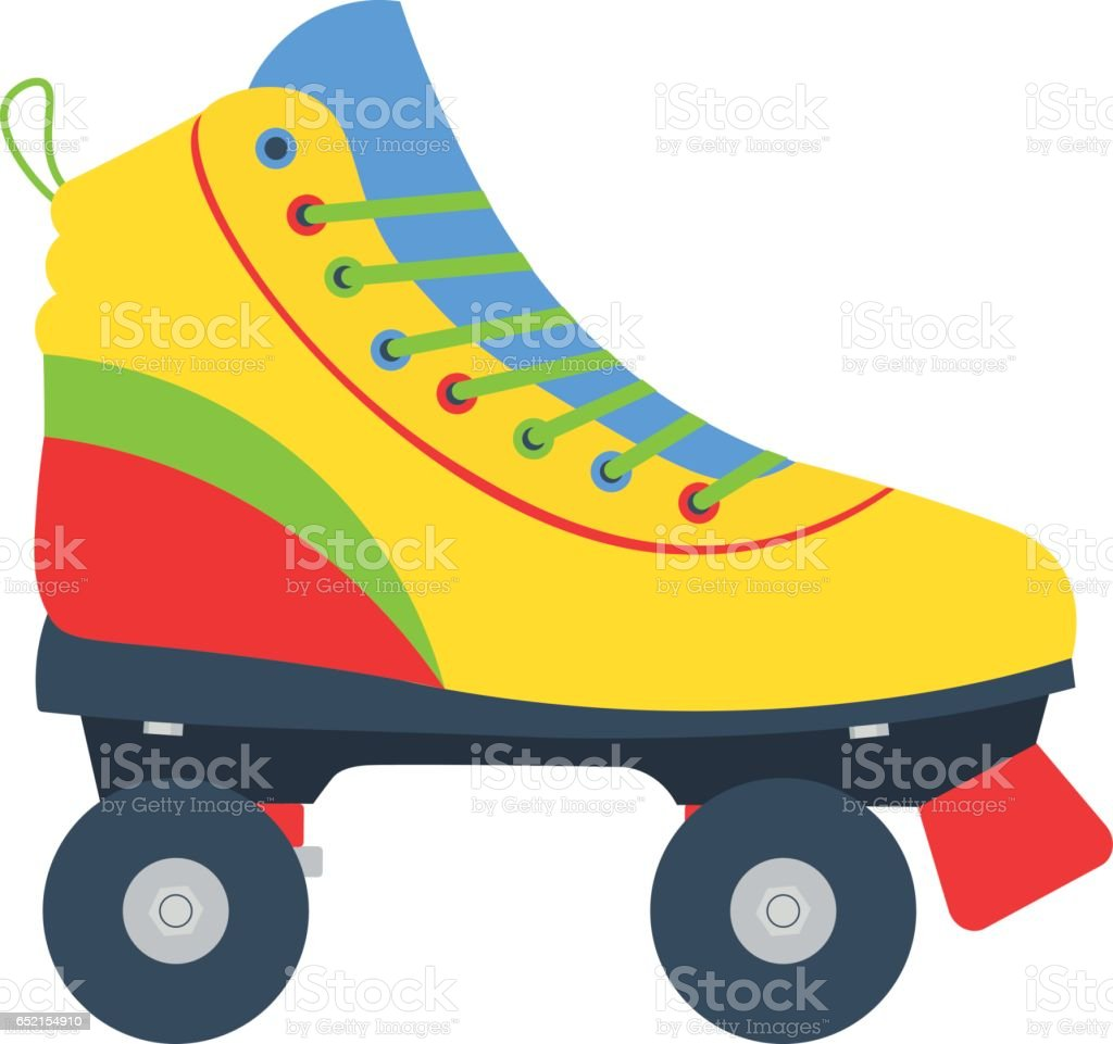 royalty free roller skate clip art vector images illustrations rh istockphoto com roller skate clipart black and white roller skate images clip art free