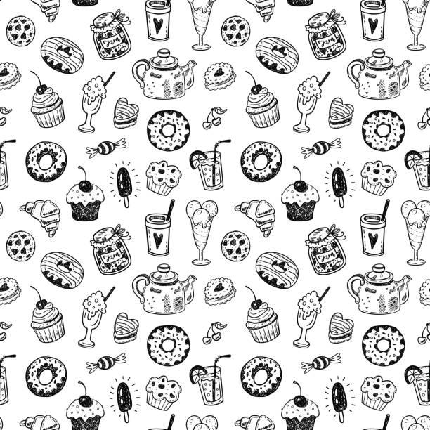 ilustraciones, imágenes clip art, dibujos animados e iconos de stock de imprimir  - comida chatarra