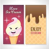 A beautiful ice cream card