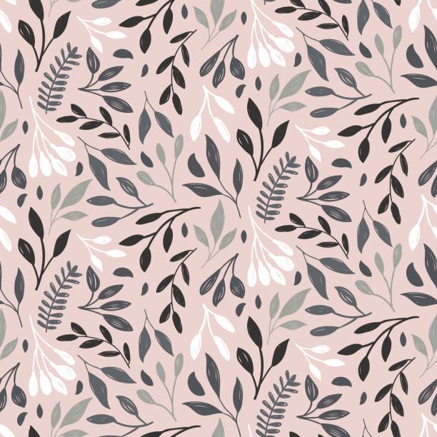 Print Leaf floral print. Natural vector seamless pattern. natural pattern stock illustrations