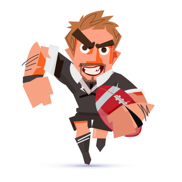 - print - rugby stock-grafiken, -clipart, -cartoons und -symbole