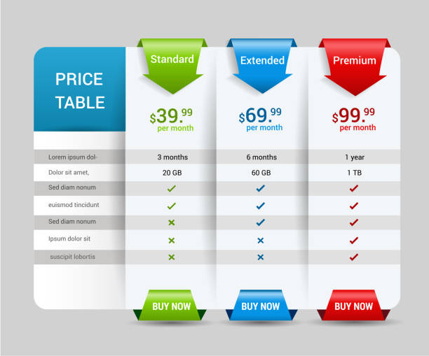 print - pricing infographics stock illustrations, clip art, cartoons, & icons