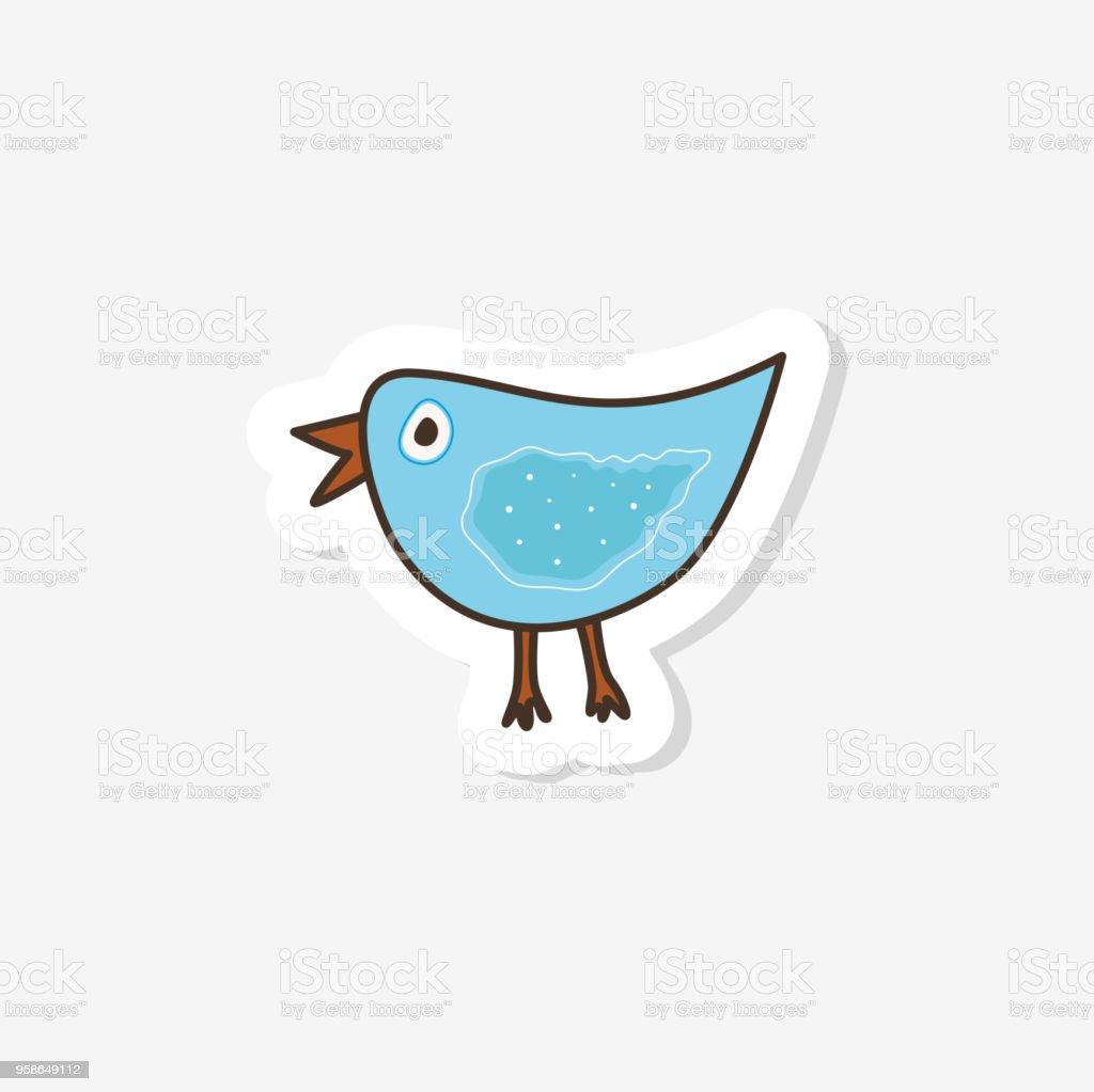 かわいい手描き鳥して印刷しますベクトル イラスト アイコン女の子のため