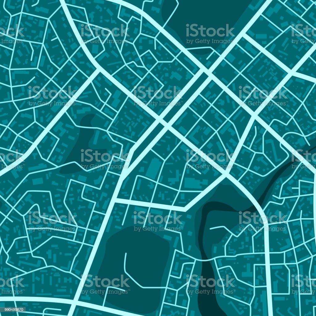 Imprimer Avec La Topographie De La Ville Bleue Carte De La Ville Bleue Abstraite Plan De Ville Quartier Residentiel Plan De Ville De District Illustration Vectorielle Vecteurs Libres De Droits Et Plus