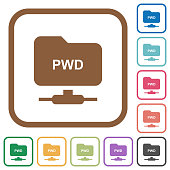 FTP print working directory simple icons