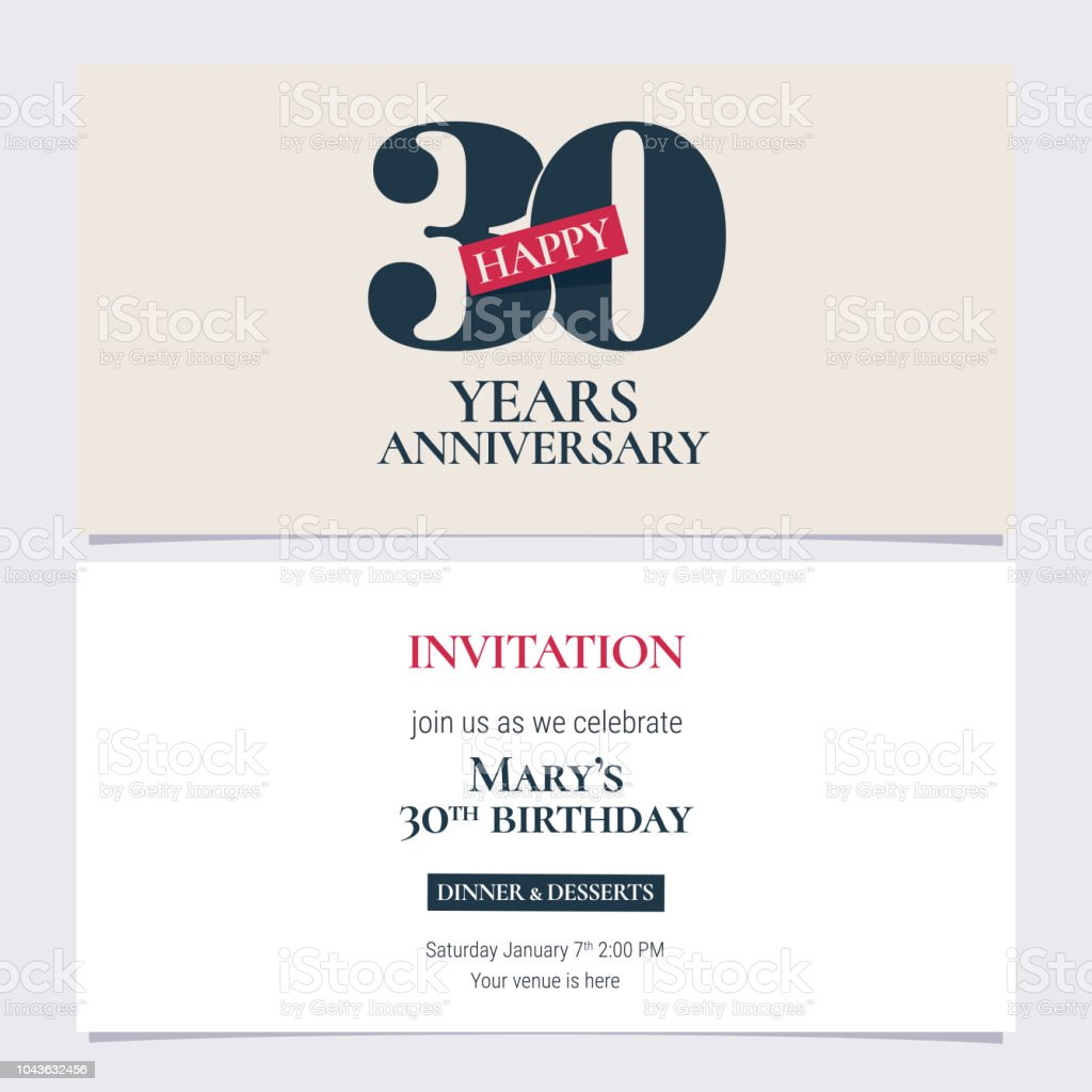 Print30 years anniversary invitation vector illustration stock print30 years anniversary invitation vector illustration royalty free print30 years anniversary invitation vector illustration stock stopboris Image collections