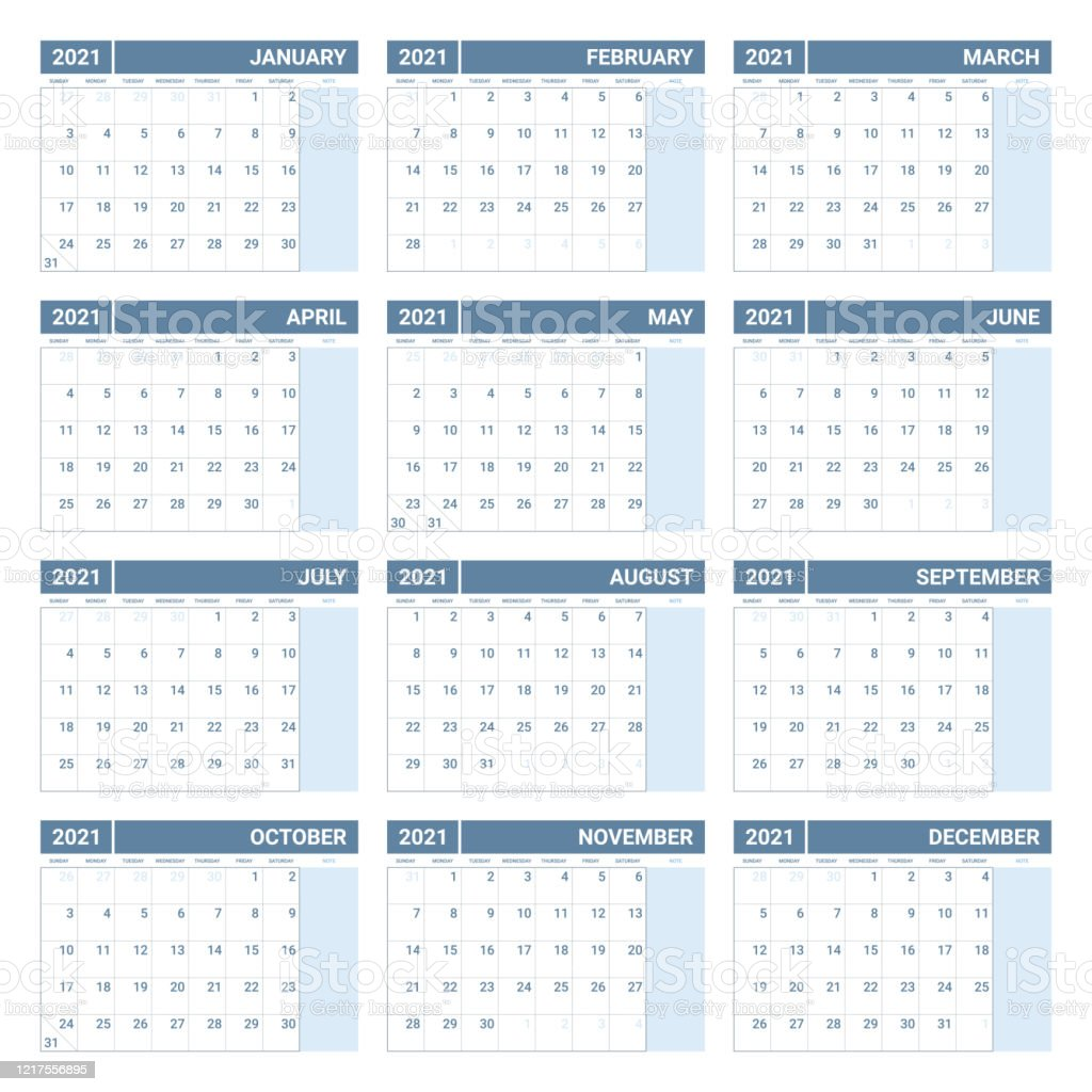 Printable 2021 Yearly Calendar Template In Simple Design ...