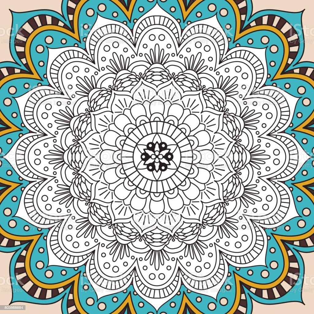 Coloriage Anti Stress Indien.Livre De Coloriage Antistress Imprimable Page Pour Adultes