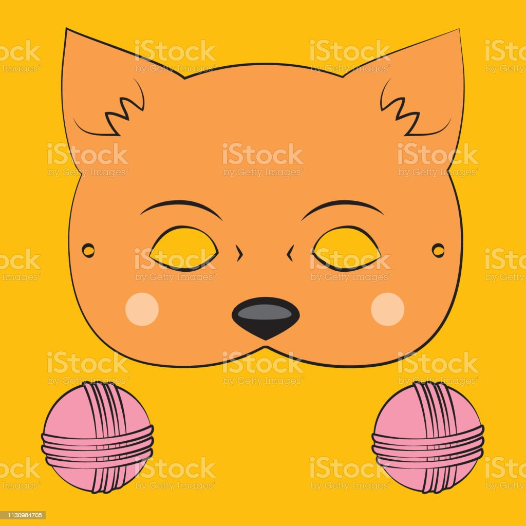 picture about Cat Mask Printable identify Printable Cat Mask Inventory Example - Obtain Impression Presently