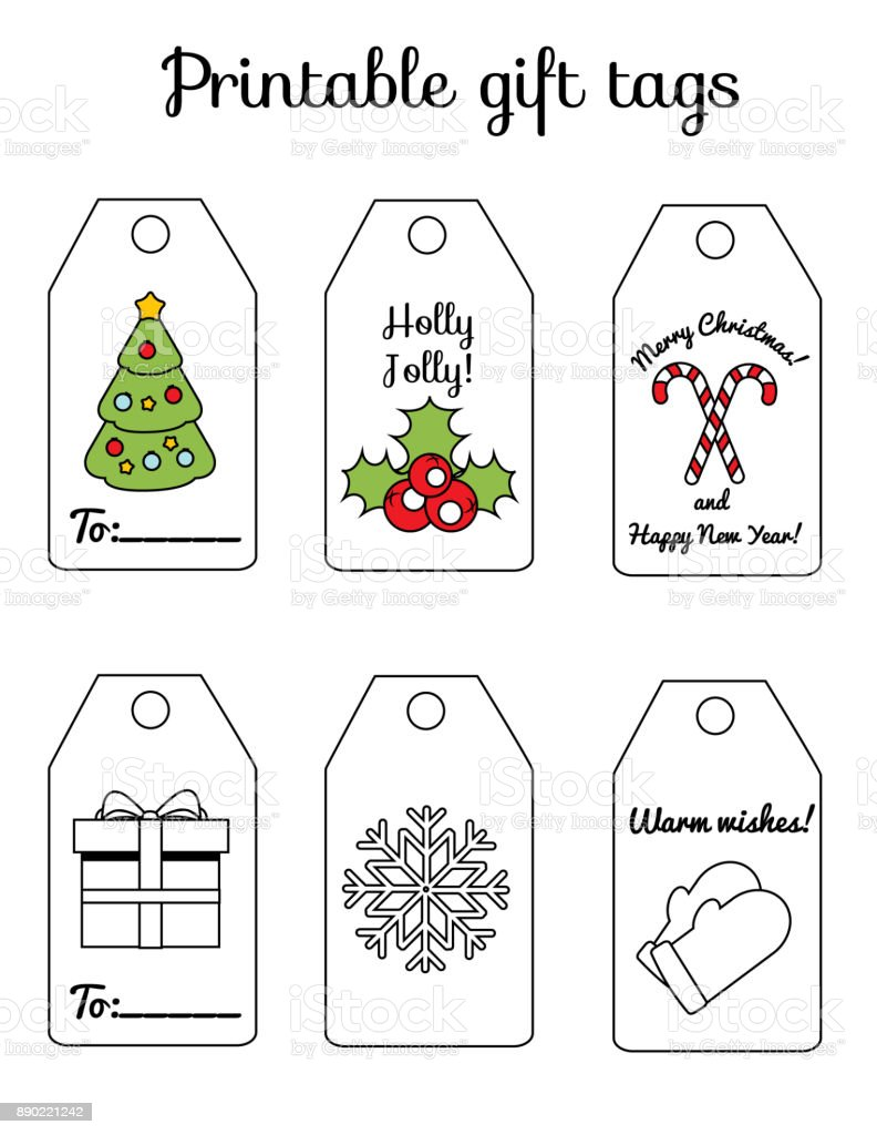 Printable christmas and new year gift tags winter holidays greetings printable christmas and new year gift tags winter holidays greetings and decorations for scrapbook and m4hsunfo