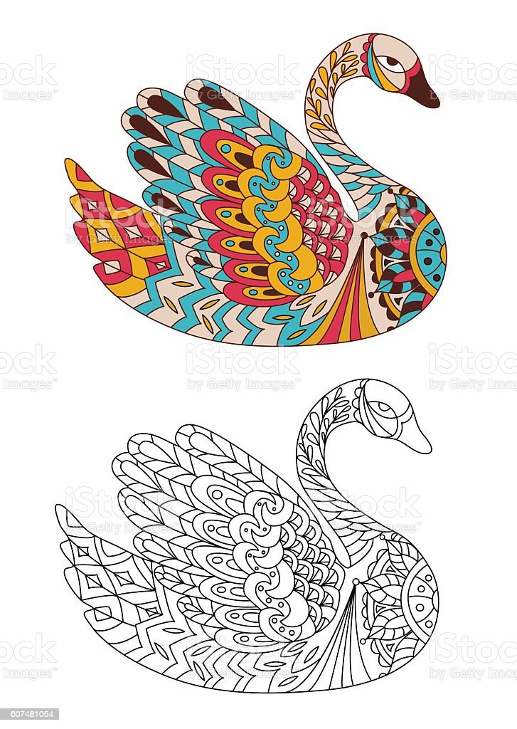 Animal Bird Coloring Drawing